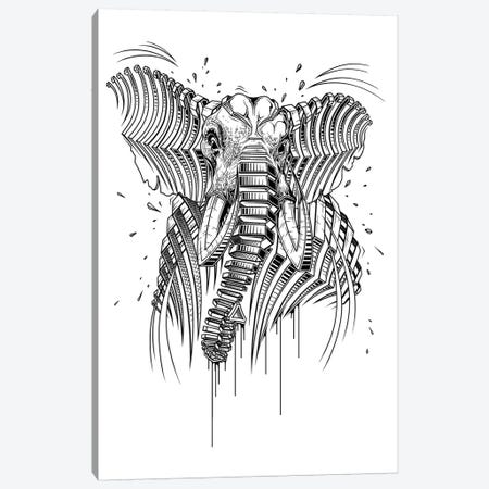 Elephant Canvas Print #JYN15} by JAYN Canvas Art Print