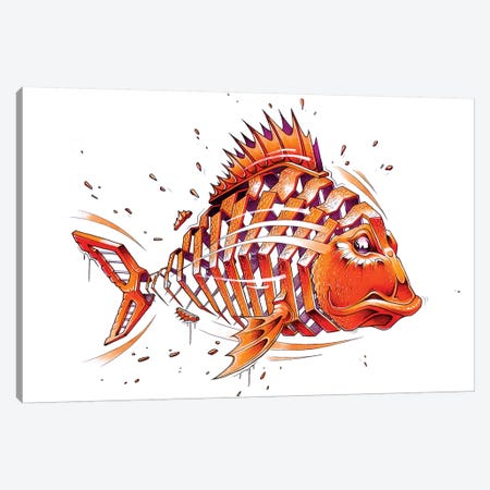 Fish Canvas Print #JYN16} by JAYN Art Print