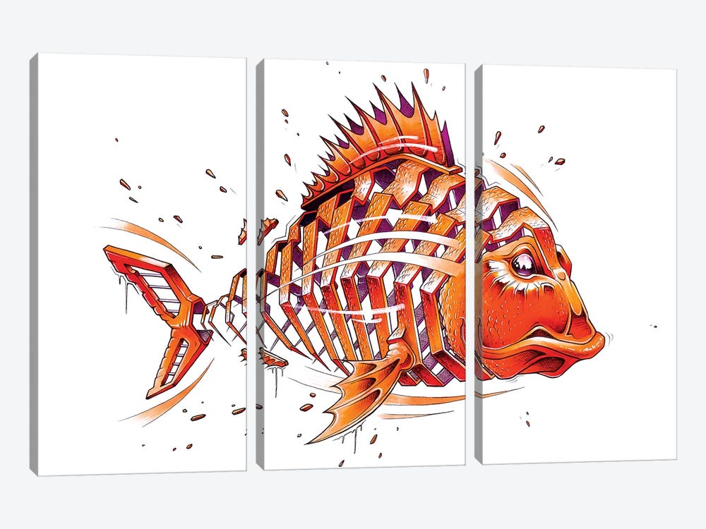 Fish by JAYN 3-piece Canvas Art