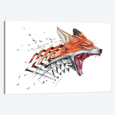 Fox Canvas Print #JYN18} by JAYN Canvas Wall Art