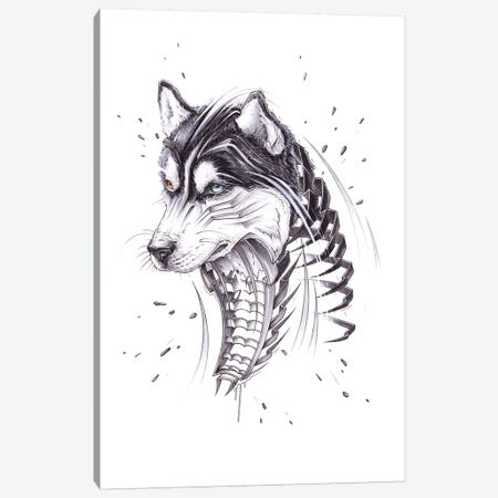 Husky Canvas Print #JYN23} by JAYN Canvas Art Print