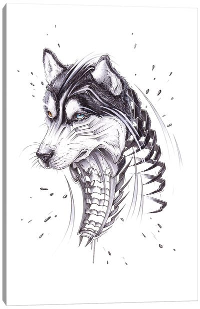 Husky by JAYN Canvas Art Print