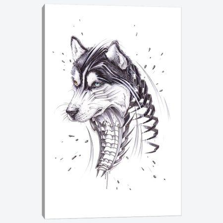 Husky Canvas Print #JYN23} by JAYN Canvas Art Print