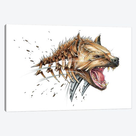 Hyena Canvas Print #JYN24} by JAYN Canvas Wall Art