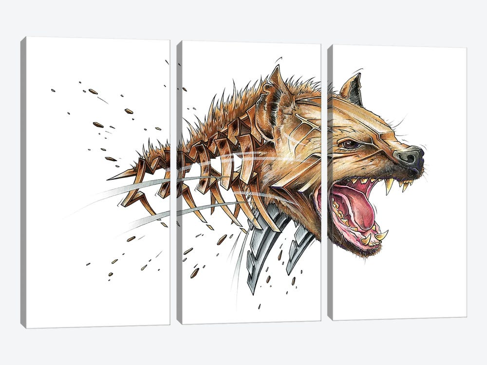 Hyena by JAYN 3-piece Art Print