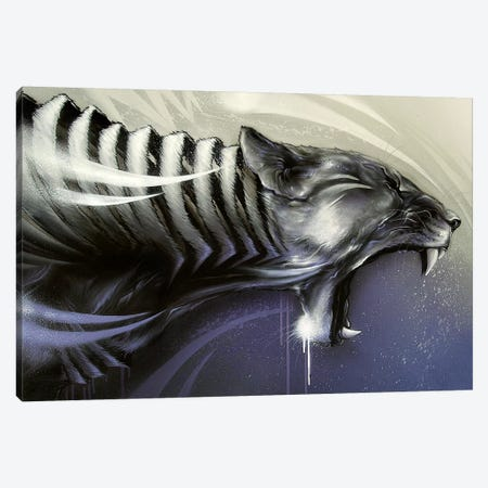 Lion Assault Canvas Print #JYN29} by JAYN Canvas Art Print