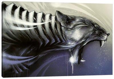 Lion Assault Canvas Art Print