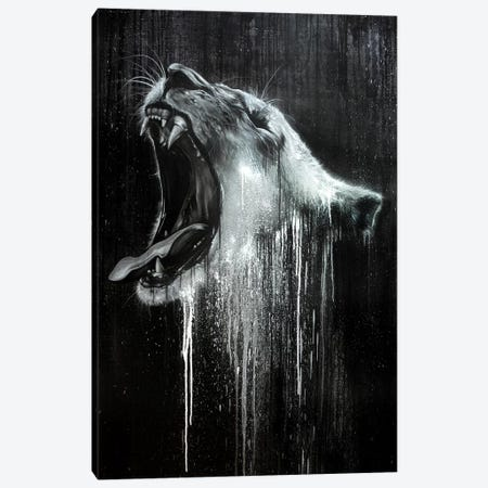 Lion in Black & White Canvas Print #JYN30} by JAYN Canvas Artwork