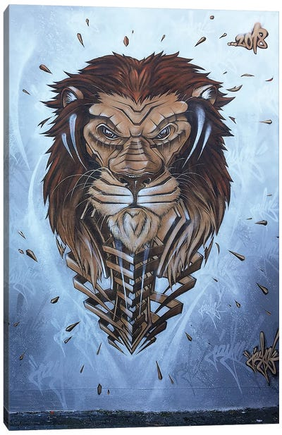 Lion Wall II by JAYN Canvas Art Print