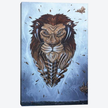 Lion Wall II Canvas Print #JYN32} by JAYN Canvas Wall Art