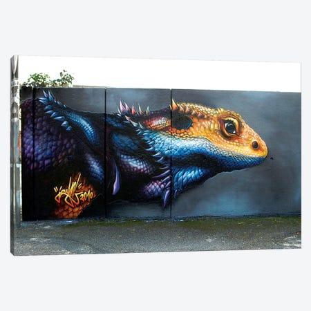Lizard Wall I  3-Piece Canvas #JYN34} by JAYN Canvas Art Print