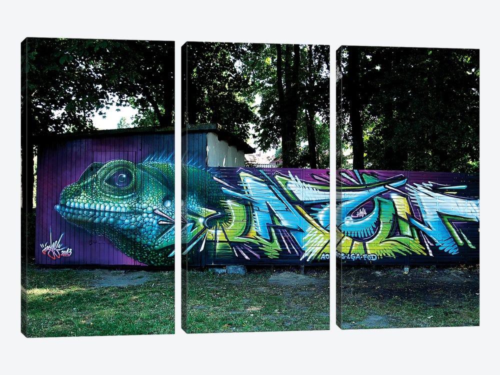 Lizard Wall II by JAYN 3-piece Art Print