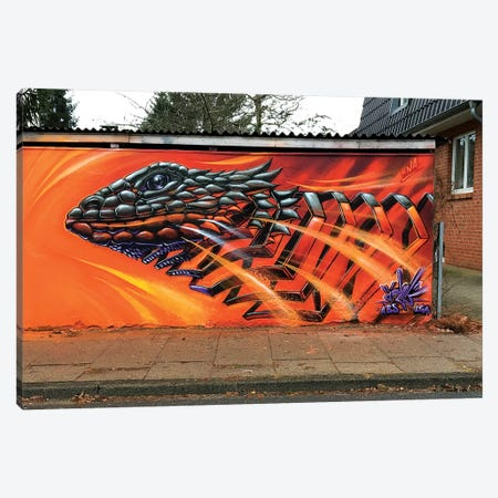 Lizard Wall III 3-Piece Canvas #JYN36} by JAYN Canvas Art Print