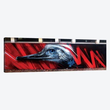 Ostrich Wall Canvas Print #JYN37} by JAYN Art Print