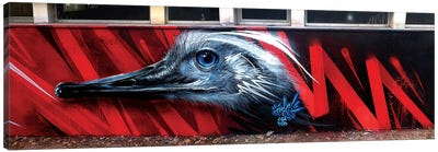 Ostrich Wall Canvas Art Print