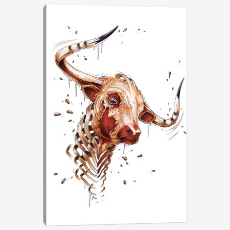 Bull Canvas Print #JYN3} by JAYN Canvas Art