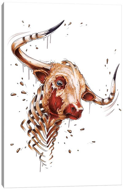 Bull by JAYN Canvas Art Print