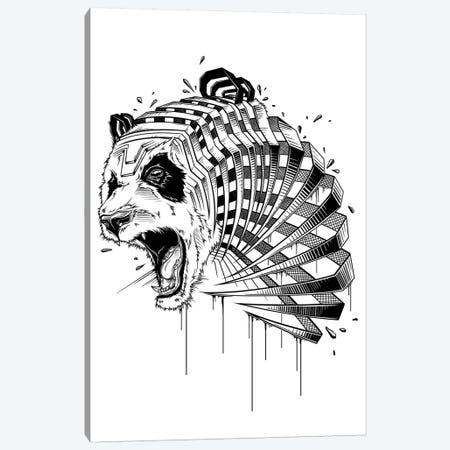 Panda 3-Piece Canvas #JYN40} by JAYN Canvas Print