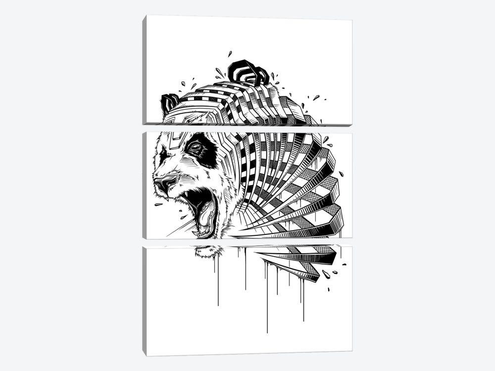 Panda by JAYN 3-piece Canvas Art Print