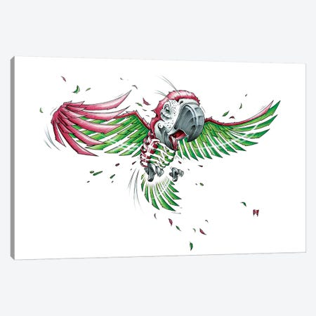 Parrot Canvas Print #JYN41} by JAYN Art Print