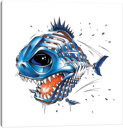 Piranha by JAYN Canvas Art Print
