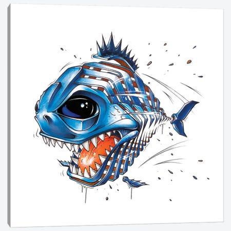 Piranha Canvas Print #JYN44} by JAYN Canvas Wall Art