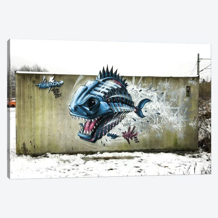 Piranha Wall Canvas Print #JYN45} by JAYN Canvas Art