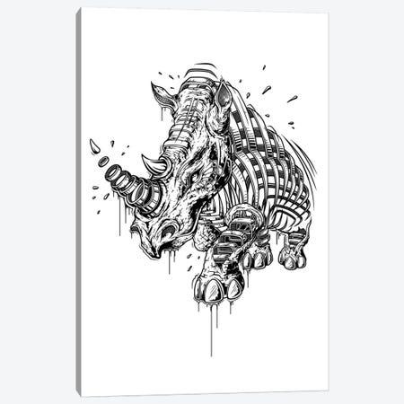 Rhino Canvas Print #JYN47} by JAYN Canvas Artwork