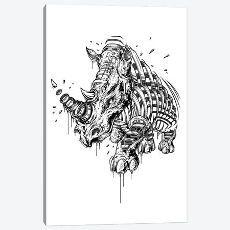 Rhino Canvas Print #JYN47} by JAYN Canvas Artwork