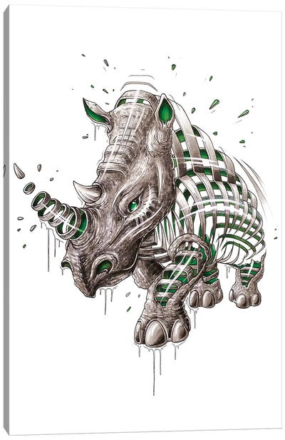 Rhino Slice Canvas Art Print
