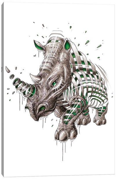 Rhino Slice Canvas Art Print