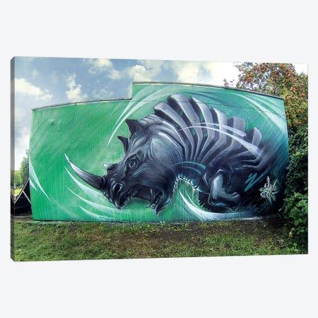 Rhino Wall Canvas Print #JYN49} by JAYN Art Print