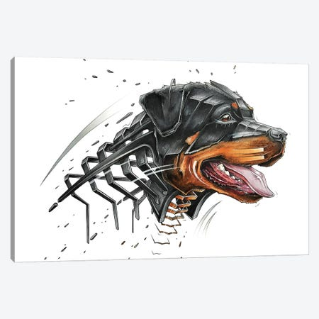 Rottweiler Canvas Print #JYN51} by JAYN Canvas Artwork