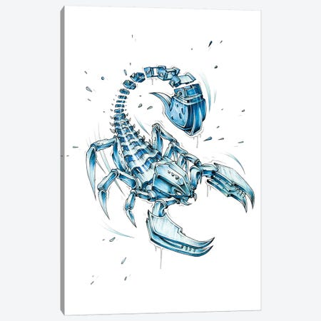 Scorpion Slice Canvas Print #JYN52} by JAYN Canvas Wall Art
