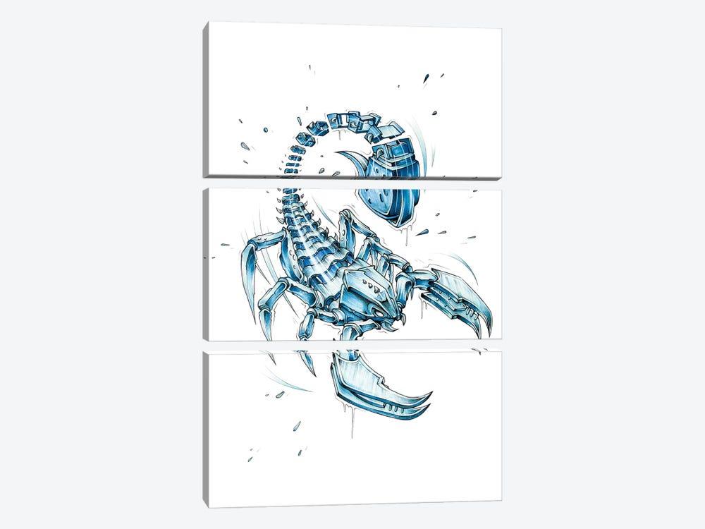 Scorpion Slice by JAYN 3-piece Canvas Artwork