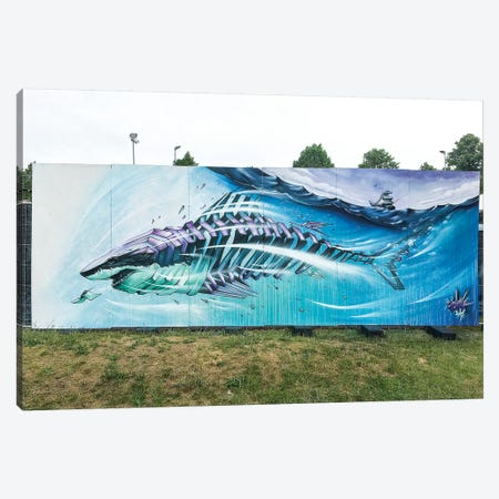 Shark I Canvas Print #JYN53} by JAYN Canvas Wall Art