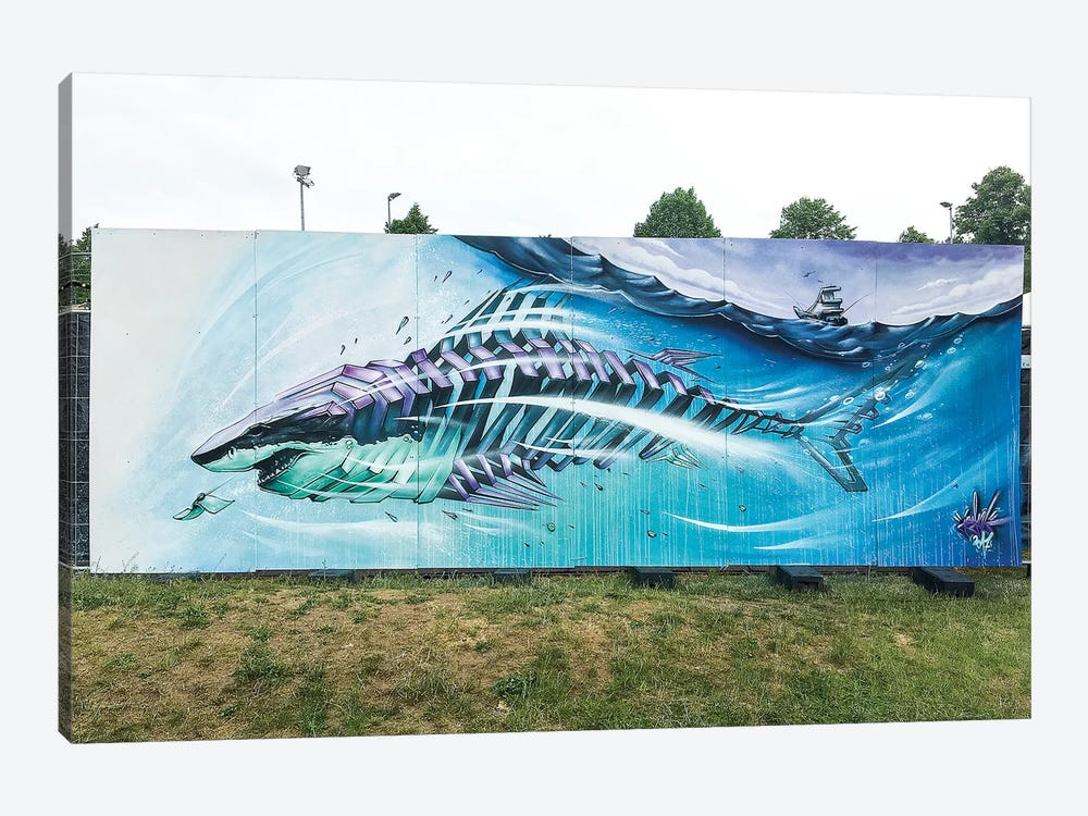 Shark I by JAYN 1-piece Canvas Art Print