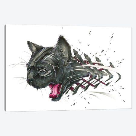 Black Cat Canvas Print #JYN64} by JAYN Canvas Art