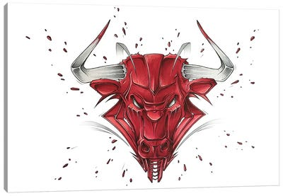 Bull Canvas Art Print