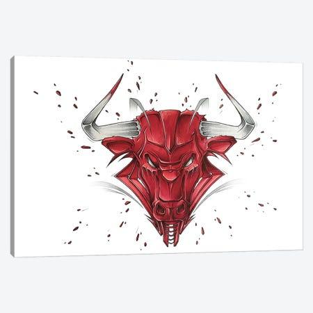 Bull Canvas Print #JYN65} by JAYN Canvas Art
