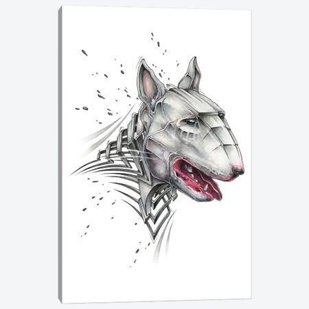 Bull Terrier Canvas Print #JYN66} by JAYN Canvas Art