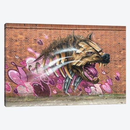 Hyena Wall Canvas Print #JYN67} by JAYN Canvas Artwork