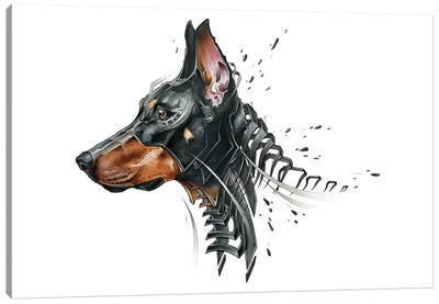 Dobermann 2.0 by JAYN Canvas Art Print