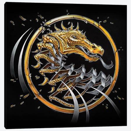 Golden Dragon Slice Canvas Print #JYN75} by JAYN Canvas Art Print