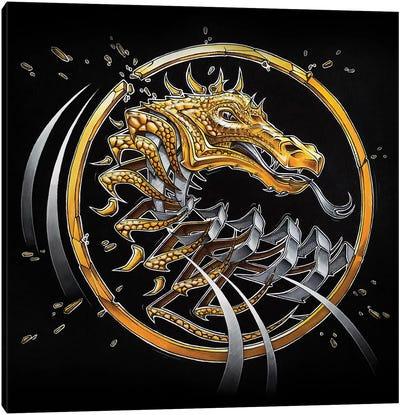 Golden Dragon Slice Canvas Art Print