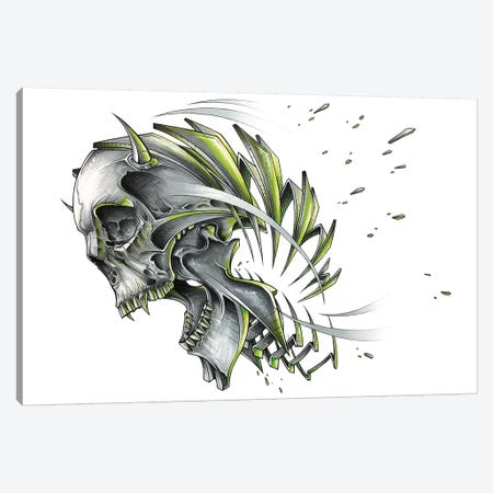 Skull Slice Canvas Print #JYN76} by JAYN Canvas Print