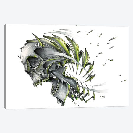 Screaming Skull Slice Canvas Print #JYN80} by JAYN Canvas Art Print
