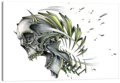 Screaming Skull Slice Canvas Art Print
