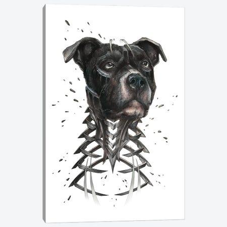 Black Pitbull Slice Canvas Print #JYN81} by JAYN Canvas Print