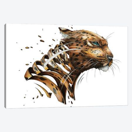 Leopard Slice Canvas Print #JYN82} by JAYN Canvas Art Print